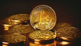 Goldenes Bitcoins Lizenzfreie Stockbilder