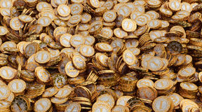 Goldenes Bitcoins Lizenzfreie Stockfotos