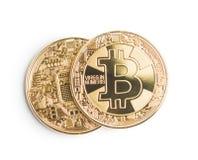 Goldenes Bitcoins Münze von cryptocurrency Stockbilder