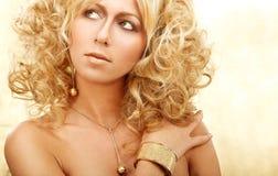 Goldenes blondes Lizenzfreies Stockfoto