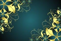 Goldenes Blumenfeld Stockbilder