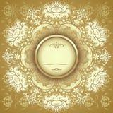 Goldenes Blumenmuster Stockbild