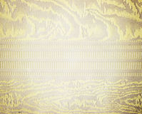 Goldenes Blumenverzierungs-Brokattextilmuster Lizenzfreies Stockbild