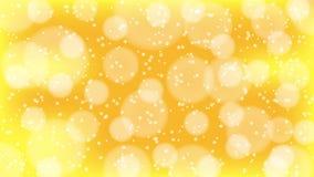 Goldenes bokeh lizenzfreie abbildung