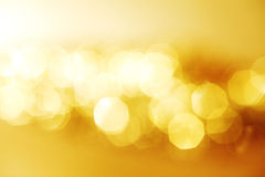 Goldenes bokeh Lizenzfreie Stockfotografie