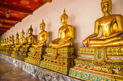 Goldenes Buddha-Bild Stockfotos