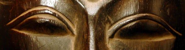Goldenes Buddha-Gesicht Lizenzfreie Stockfotografie
