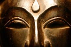 Goldenes Buddha-Gesicht Lizenzfreie Stockfotos
