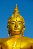 Goldenes Buddha-Gesicht Lizenzfreies Stockbild