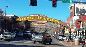 Goldenes Colorado in Amerika Stockfotos