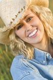 Goldenes Cowgirl Stockbilder