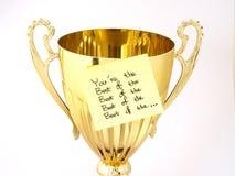 Goldenes Cup Lizenzfreie Stockfotos
