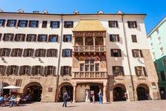 Goldenes Dachl Golden Roof. INNSBRUCK, AUSTRIA - MAY 21, 2017: The Goldenes Dachl or Golden Roof is landmark in Altstadt Old Town in Innsbruck, Austria. Goldenes Stock Photography