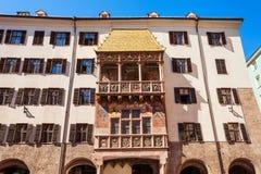 Goldenes Dachl Golden Roof. The Goldenes Dachl or Golden Roof is landmark in Altstadt Old Town in Innsbruck, Austria. Goldenes Dachl is most famous Innsbruck Royalty Free Stock Image