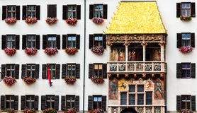 The Goldenes Dachl (Golden Roof) is a landmark in the Old Town of Innsbruck, Austria. Royalty Free Stock Photo