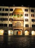 Goldenes Dachl, guld- tak, Innsbruck Royaltyfria Bilder