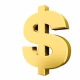 Goldenes Dollarzeichen Lizenzfreie Stockfotografie
