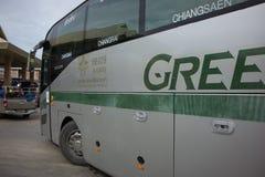Goldenes Dragon Bus von Greenbus Company Weg zwischen Chiangmai Lizenzfreie Stockfotografie