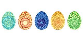 Goldenes Ei über grünem Steigungshintergrund Ursprüngliche Verzierung Würdevolle Vektorgrafik Stockfotos