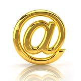 Goldenes eMail-Zeichen Stockfotografie