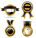 Goldenes erstklassiges Qualitäts-Bestes beschriftet Sammlung auf Weiß Lizenzfreies Stockbild