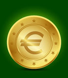 Goldenes Eurosymbol Stockfotografie