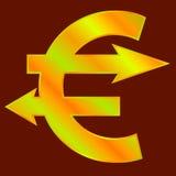 Goldenes Eurozeichen Lizenzfreie Stockfotografie