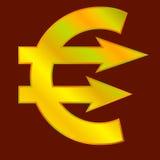 Goldenes Eurozeichen Lizenzfreie Stockbilder