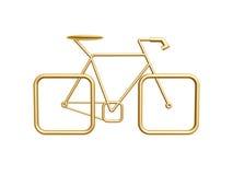 Goldenes Fahrrad Lizenzfreie Stockfotografie
