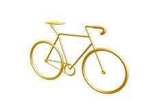 Goldenes Fahrrad Stockfoto