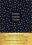 Goldenes Fall-Plakat Lizenzfreies Stockfoto