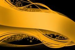 Goldenes Farbband auf Schwarzem Stockbild