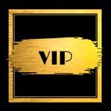 Goldenes Farbenanschlag vip-Ereignis stock abbildung