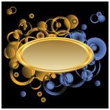 Goldenes Feld für Text. Stockfotografie