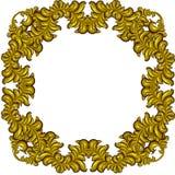 Goldenes Feld mit Luxusflorenelementen Barocke Art Lizenzfreies Stockbild