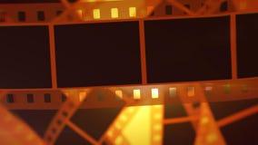 Goldenes Film-Band Rolls Stockbild
