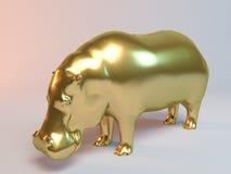 Goldenes Flusspferd Stockfotografie