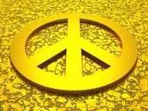 Goldenes Friedenssymbol 01 Stockbilder