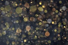 Goldenes Funkeln mit bokeh Effekt stockfotos