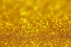Goldenes Funkelnlicht lizenzfreie stockfotografie