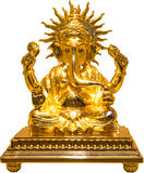 Goldenes Ganesha stockfotografie