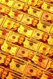Goldenes Geld Stockfotos