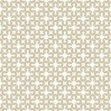 Goldenes geometrisches nahtloses Muster Weiß und Goldblumenverzierung stock abbildung