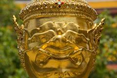 Goldenes Gesicht Lizenzfreie Stockfotos