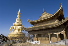 Goldenes Gipfel, Emei Shan lizenzfreies stockbild