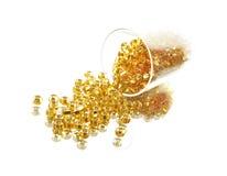 Goldenes Glas Stockbild