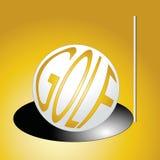 Goldenes Golf stock abbildung