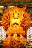 Goldenes Guan Yin Lizenzfreies Stockfoto