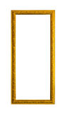Goldenes hölzernes Fotobildfeld getrennt Lizenzfreies Stockbild