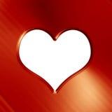 Goldenes Herz Lizenzfreies Stockbild